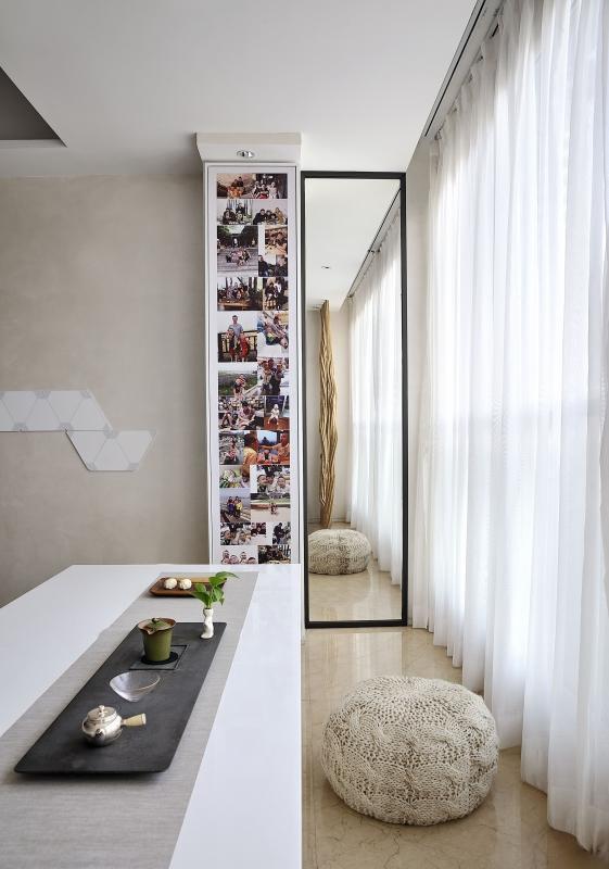 131㎡新房三居改造,极简风设计13943613