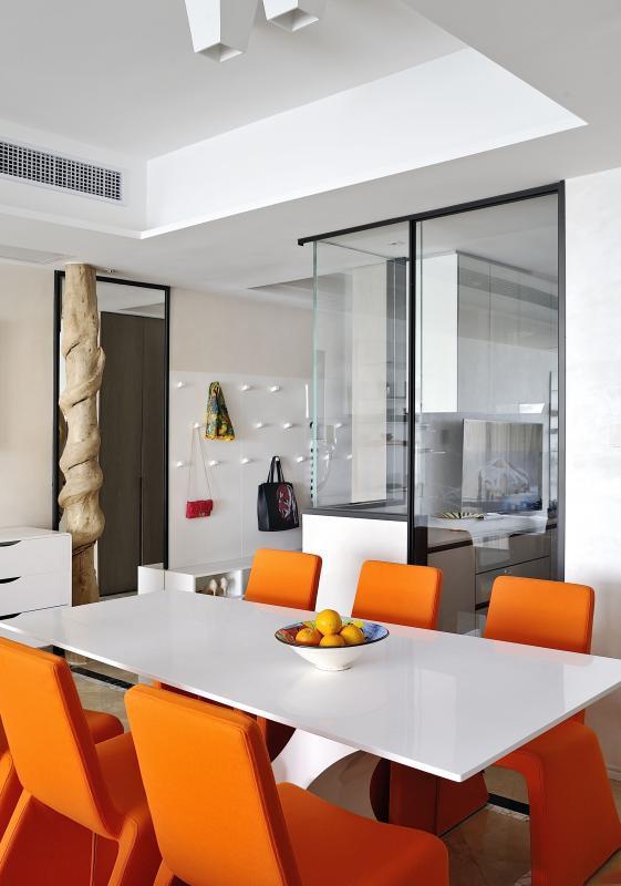 131㎡新房三居改造,极简风设计13943608