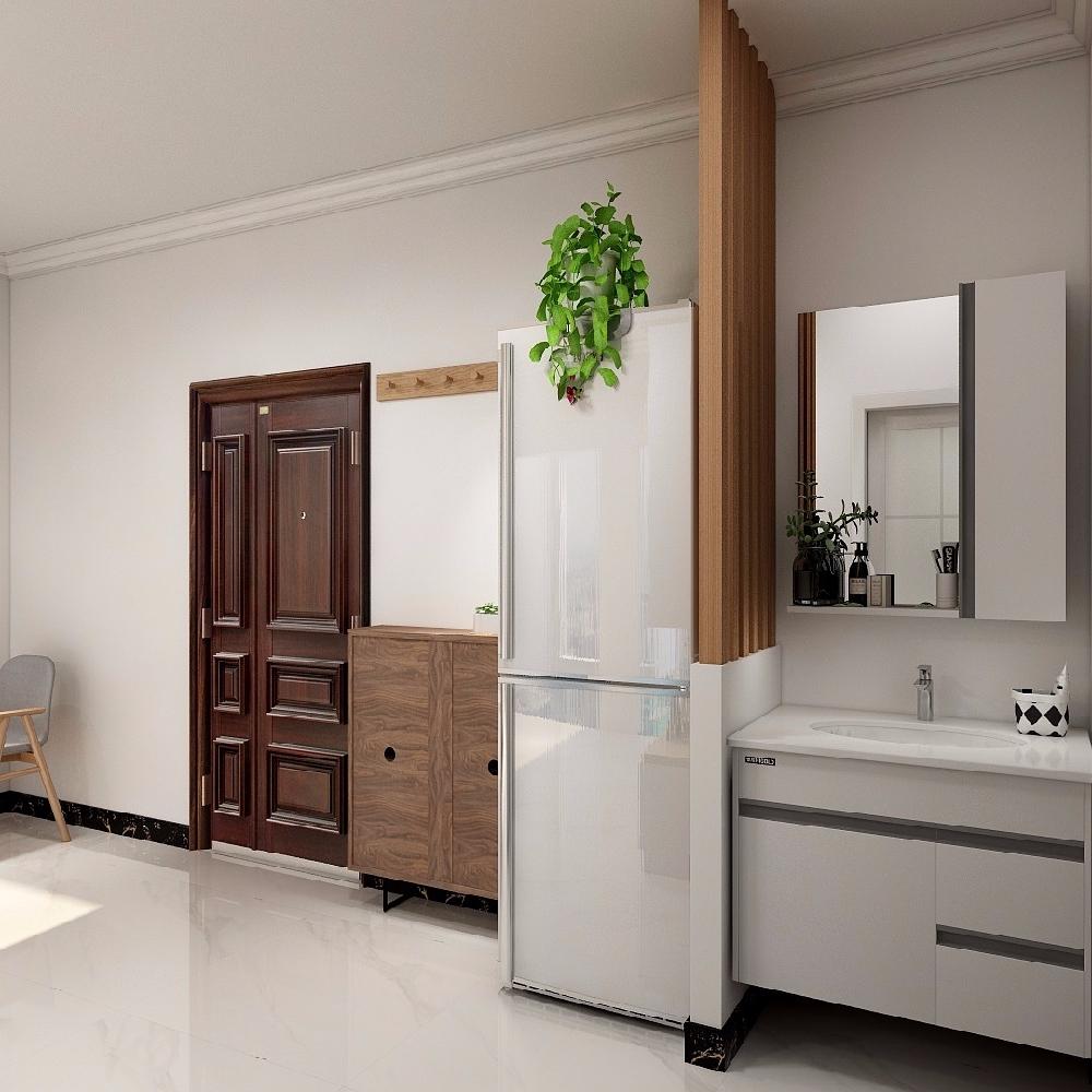 60平米老房改造,現代簡約風格14004281