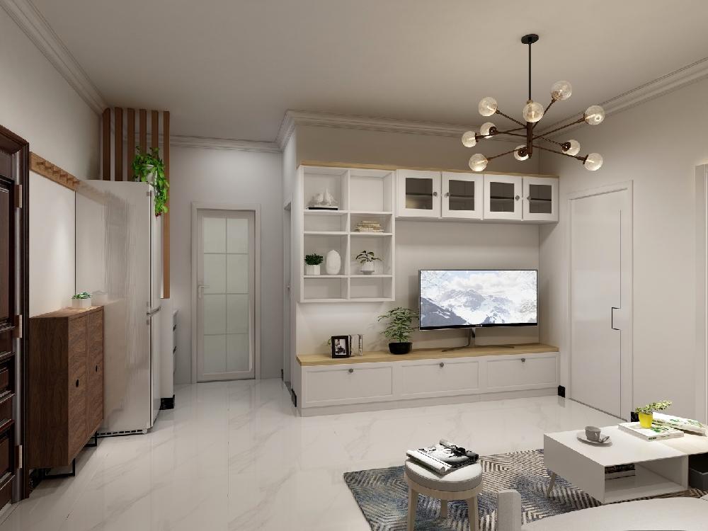 60平米老房改造,現代簡約風格14004275