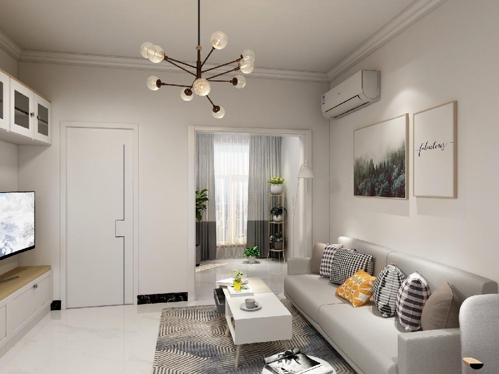 60平米老房改造,現代簡約風格14004276