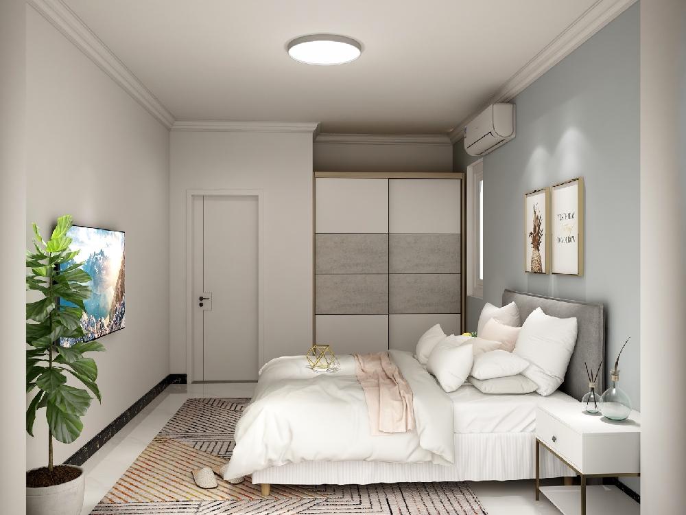 60平米老房改造,現代簡約風格14004279