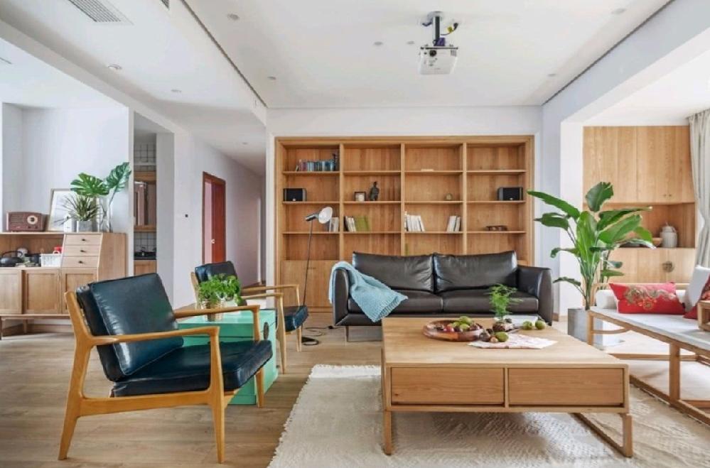 150㎡原木风家装,混搭中式日式森系14055953