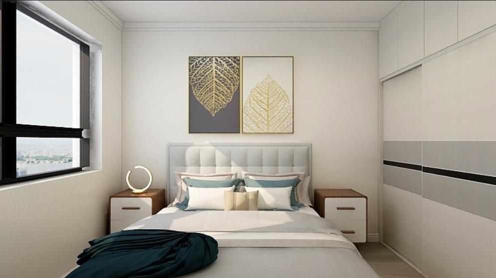 三室兩廳-90后夫妻現代混搭風格婚房14086622