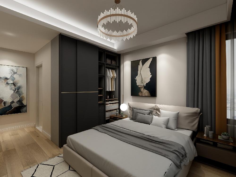 102㎡现代新公寓设计 惬意与高贵14107957