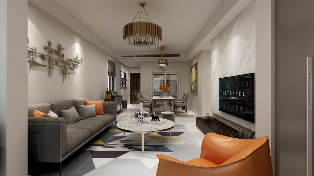 102㎡现代新公寓设计 惬意与高贵14107959