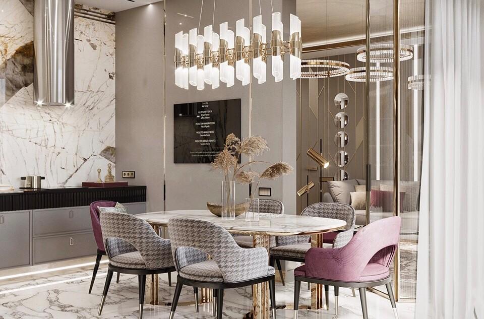 奢华与优雅并存,精致现代风女士公寓设计14135389