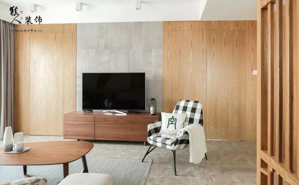 136平三居室,電視墻隱形門太個性!14155156