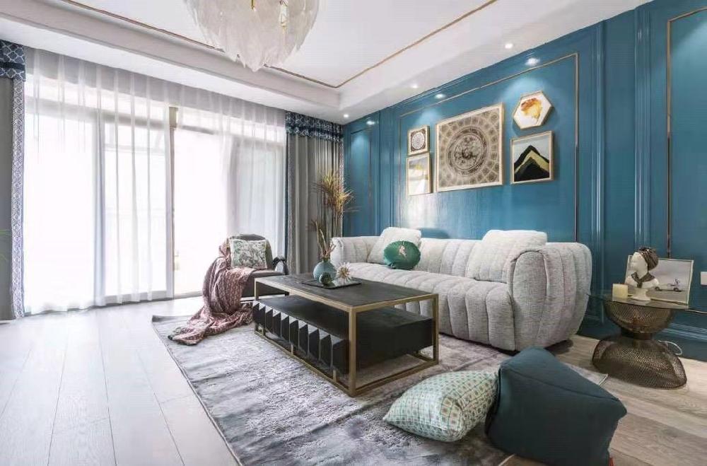 大户型四居室,美式风格14183387