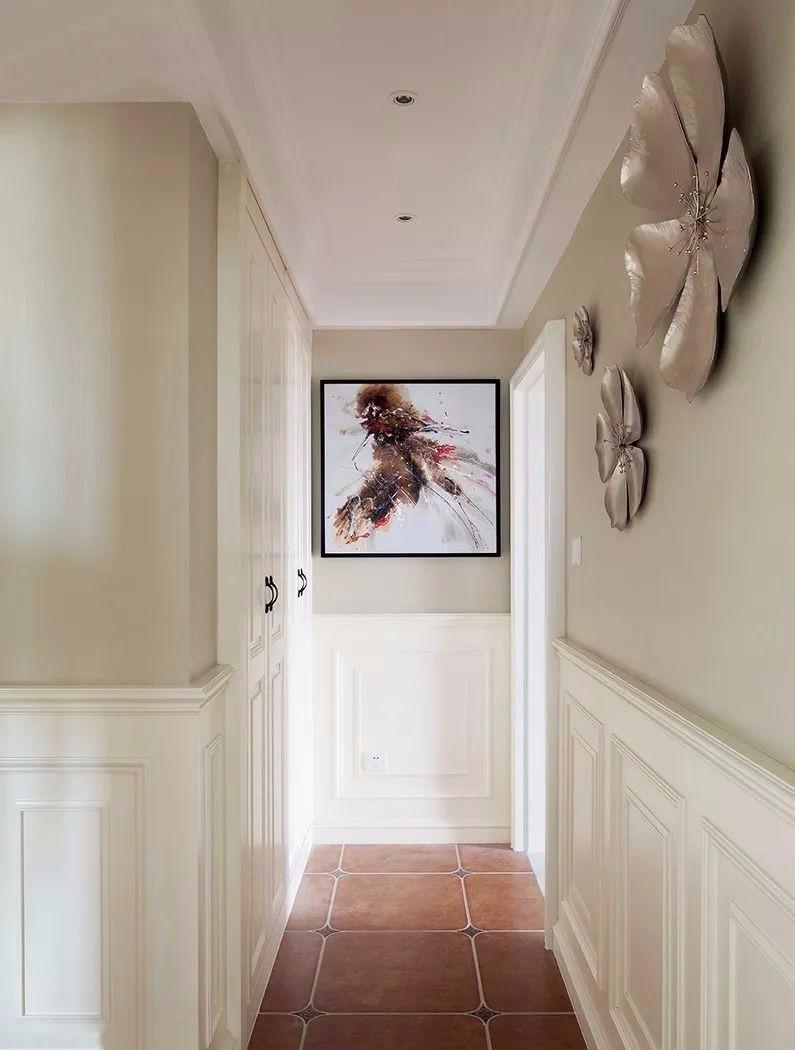 160㎡温馨美式风,壁炉造型电视墙亮了!14213941