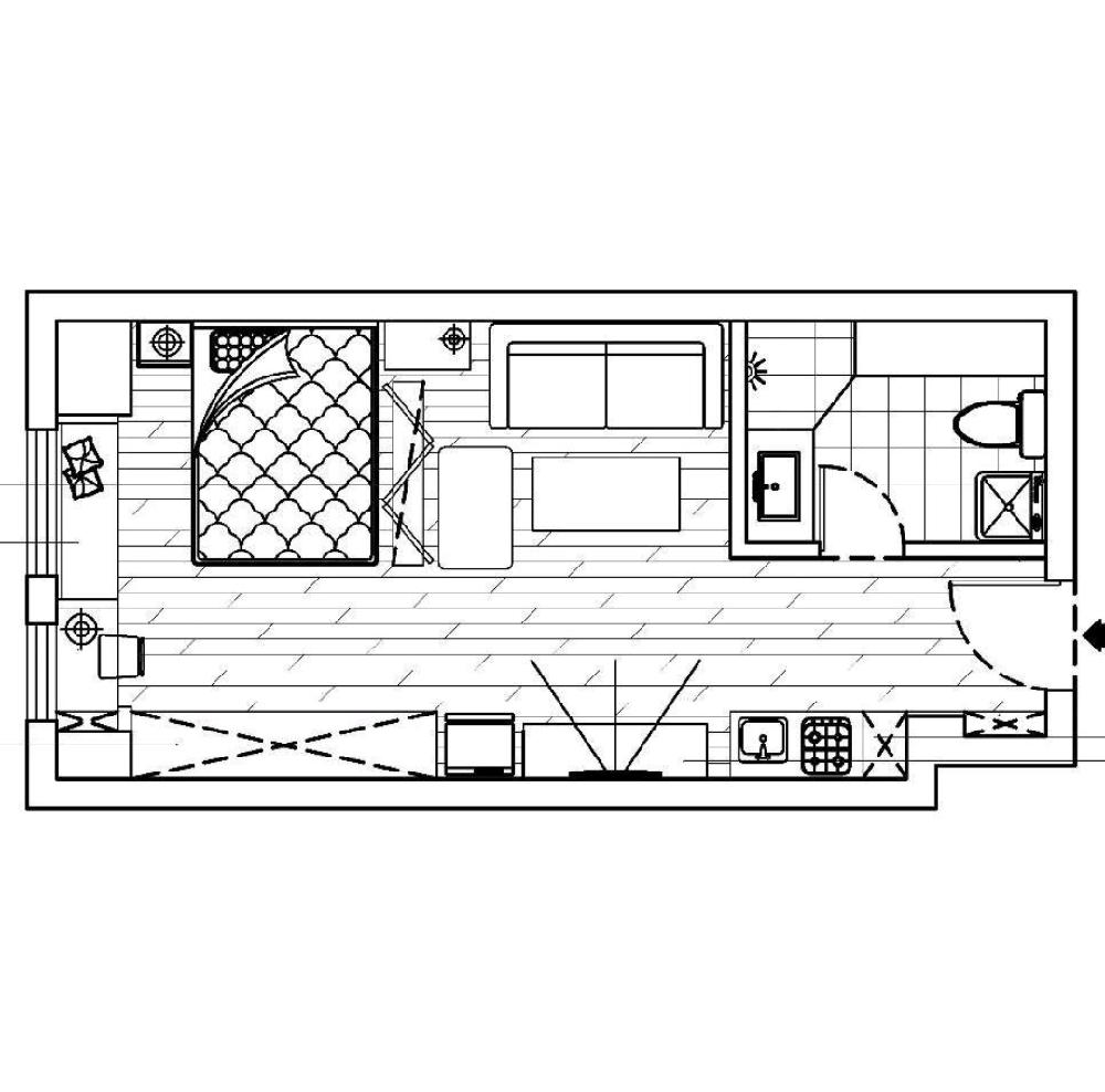 47m2单身公寓々简美风格1461658