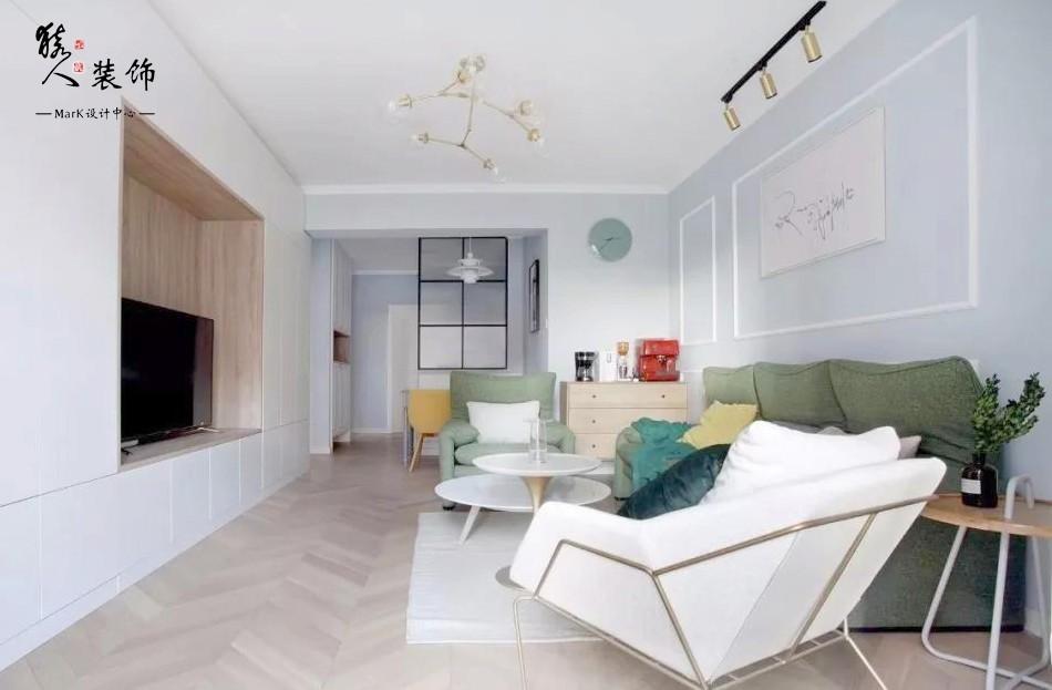 110㎡北欧三室,玄关、电视墙,巧妙实用14364133