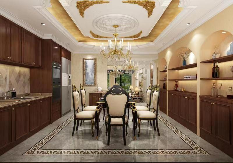 富春山居五室三厅欧式风格装修14423279