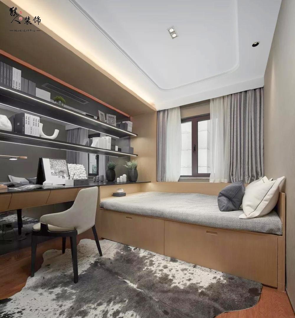 128平現代三居,客餐廳背景墻好個性!14479747