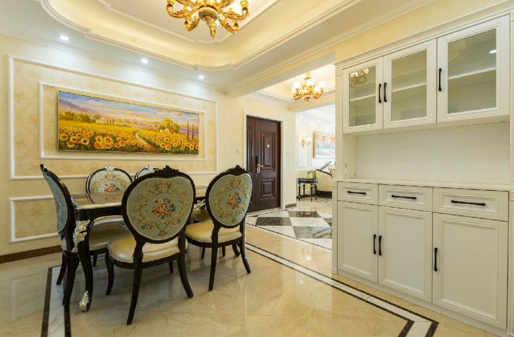 丽景中央城168平米大平层简欧风格装修14556676