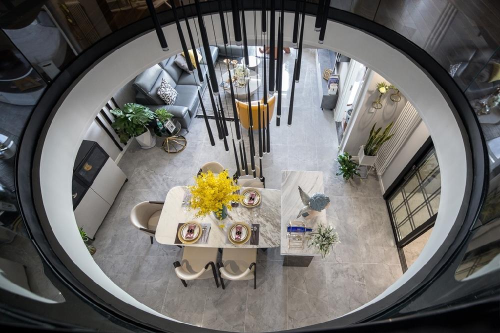 苹果社区165平米,loft现代风14700444