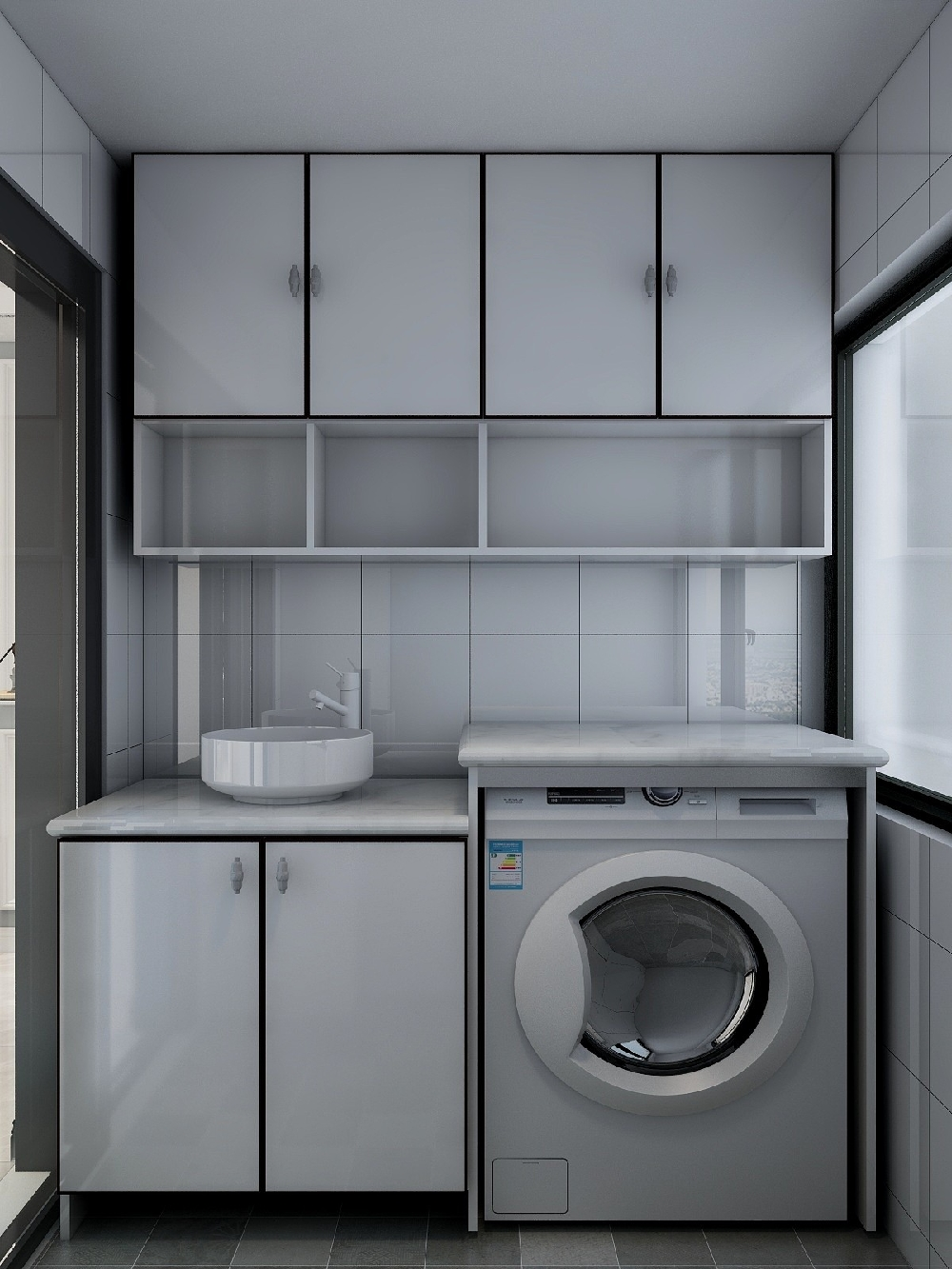 120㎡三居室设计温馨房屋14845759