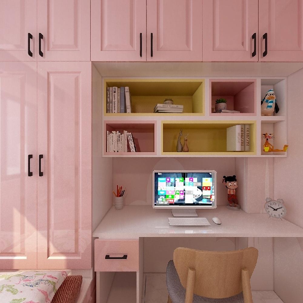 120㎡三居室設計溫馨房屋14845754