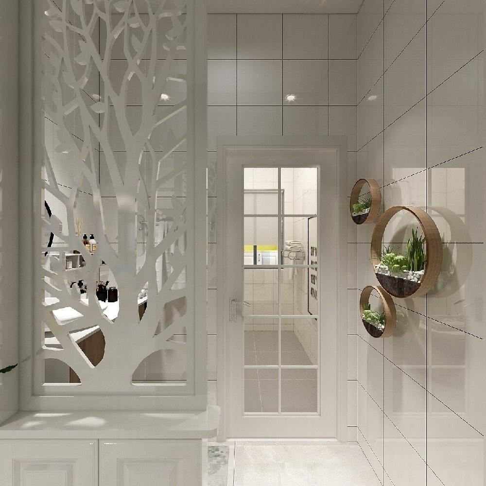 120㎡三居室設計溫馨房屋14845764