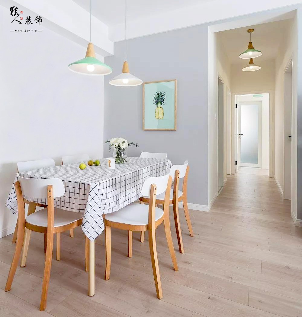 90平简约北欧三室 转角厨房超大空间14867417