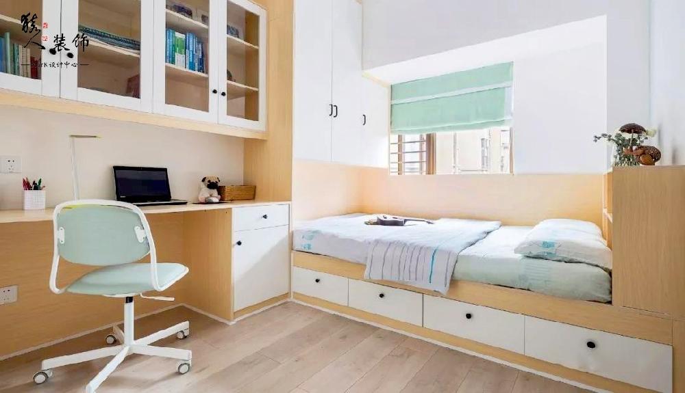 90平简约北欧三室 转角厨房超大空间14867419