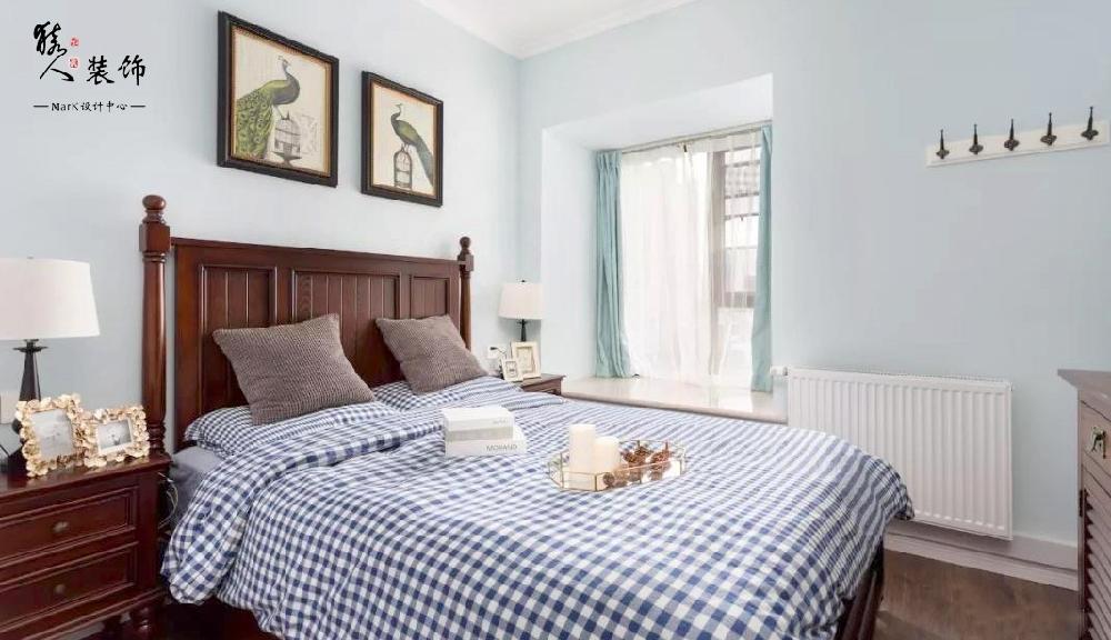 120平简美三室 淡蓝色墙面贯穿整屋14862003