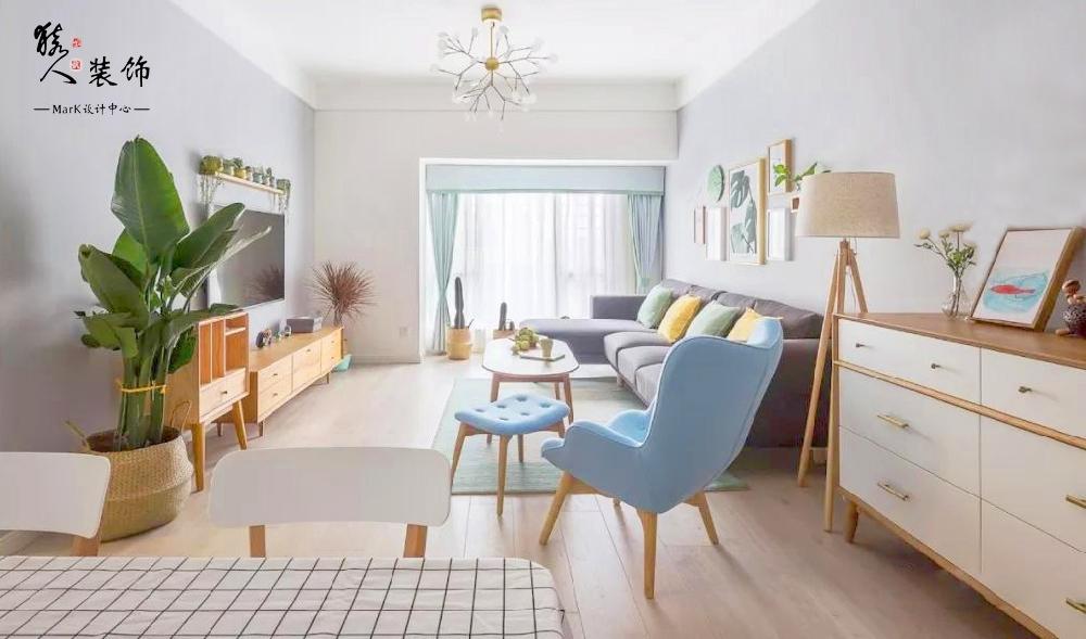 90平简约北欧三室 转角厨房超大空间14867412