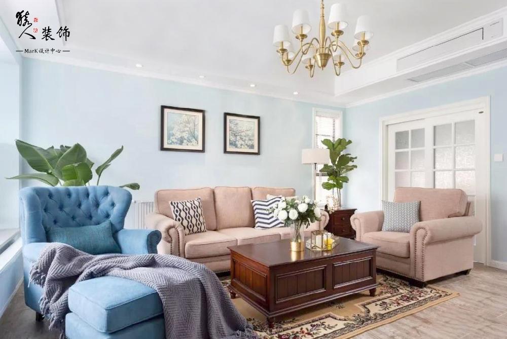 120平簡美三室 淡藍色墻面貫穿整屋14861998