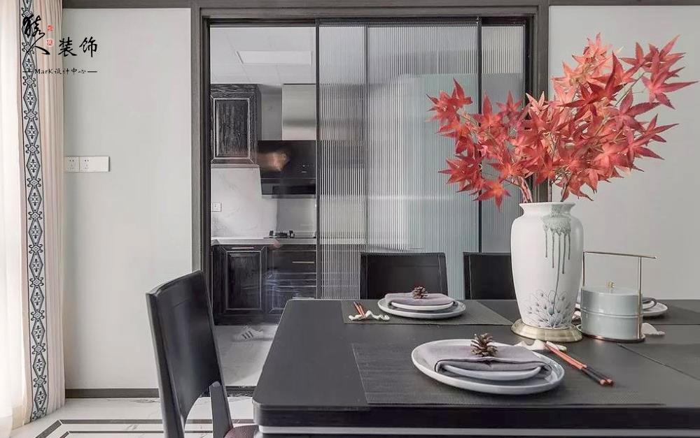 160㎡新中式4室,电视背景墙装隐形门14903494