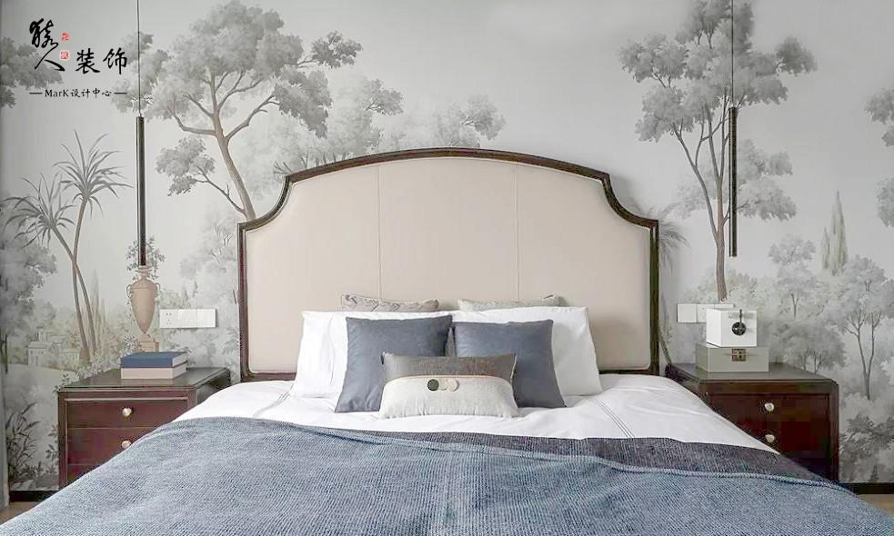 160㎡新中式4室,电视背景墙装隐形门14903502