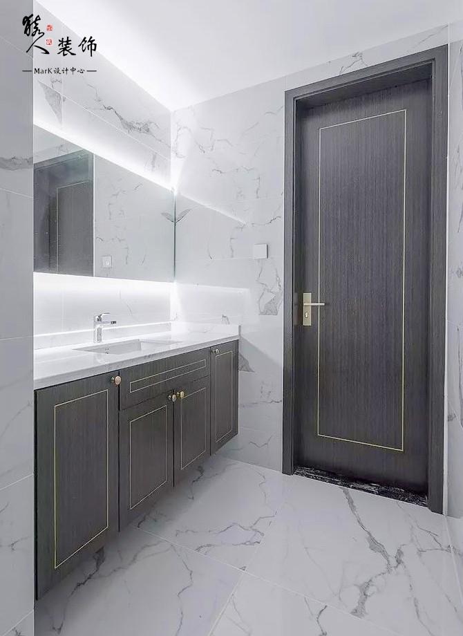160㎡新中式4室,電視背景墻裝隱形門14903504