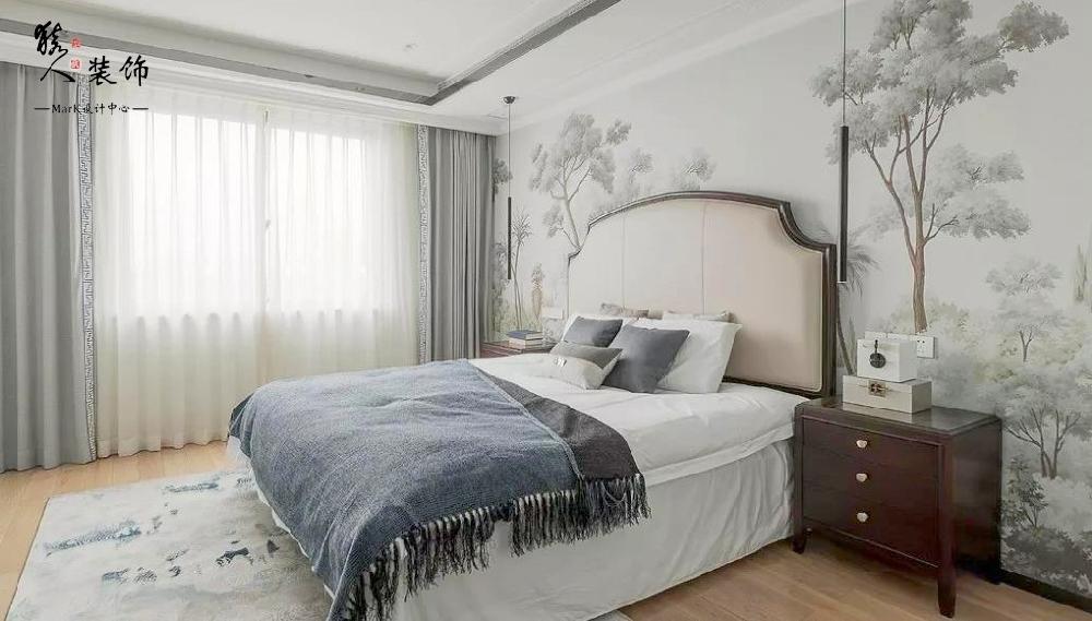 160㎡新中式4室,电视背景墙装隐形门14903501