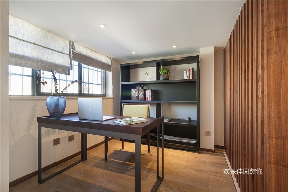 阁楼改复式,大空间新中式的精妙韵味15024521