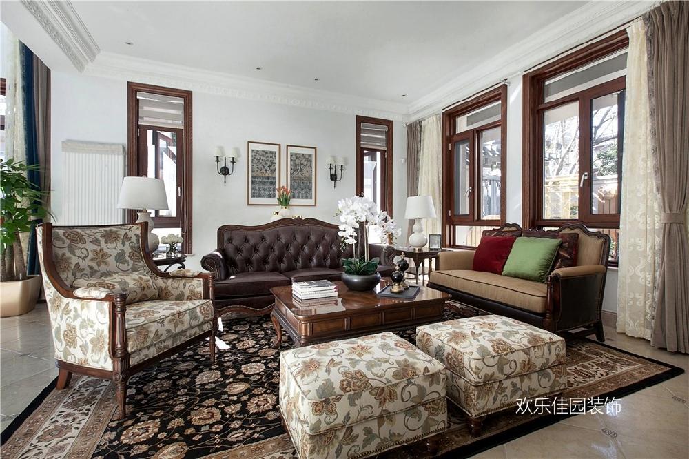 550平別墅,一層美式一層中式15092016