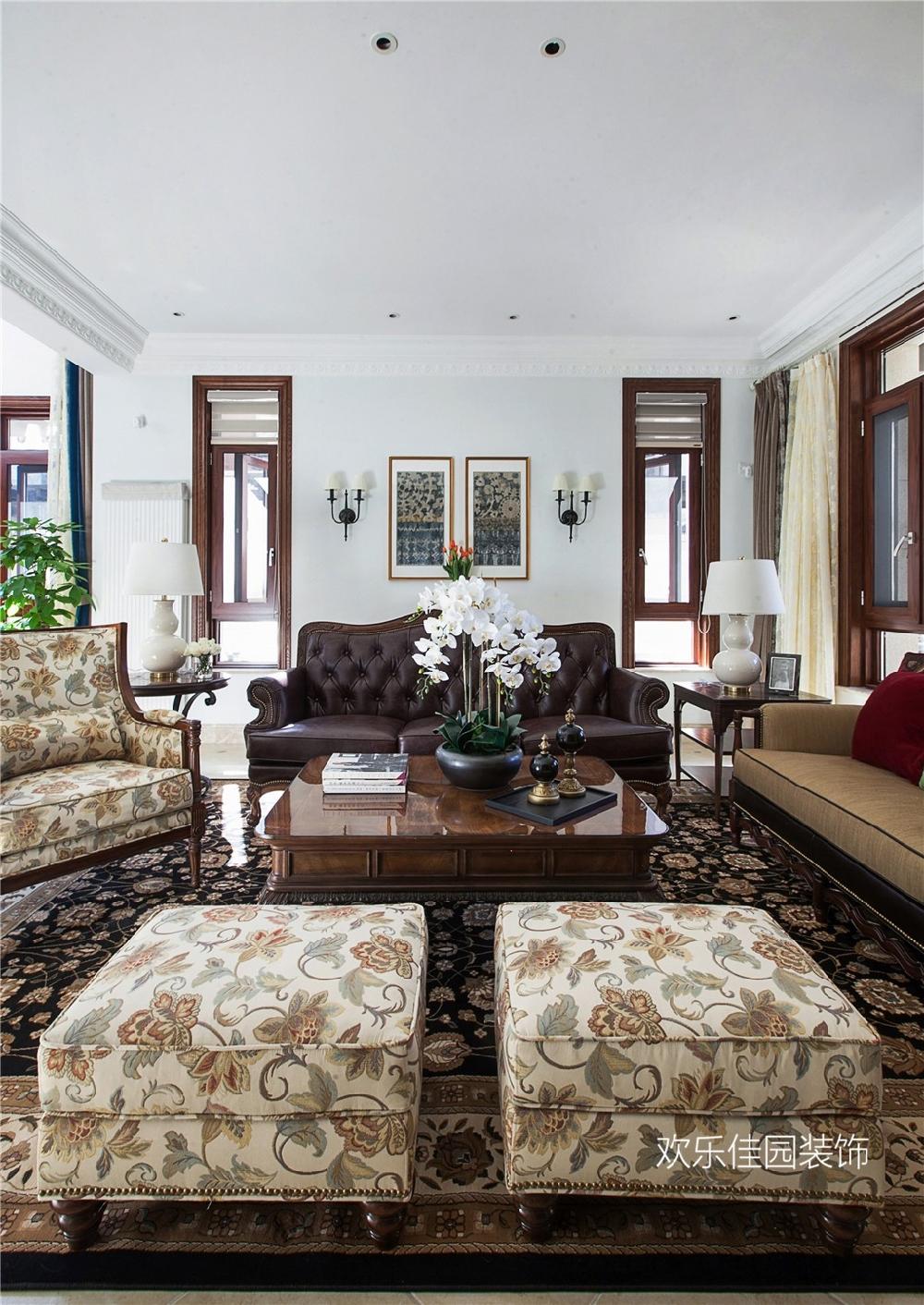 550平別墅,一層美式一層中式15092014
