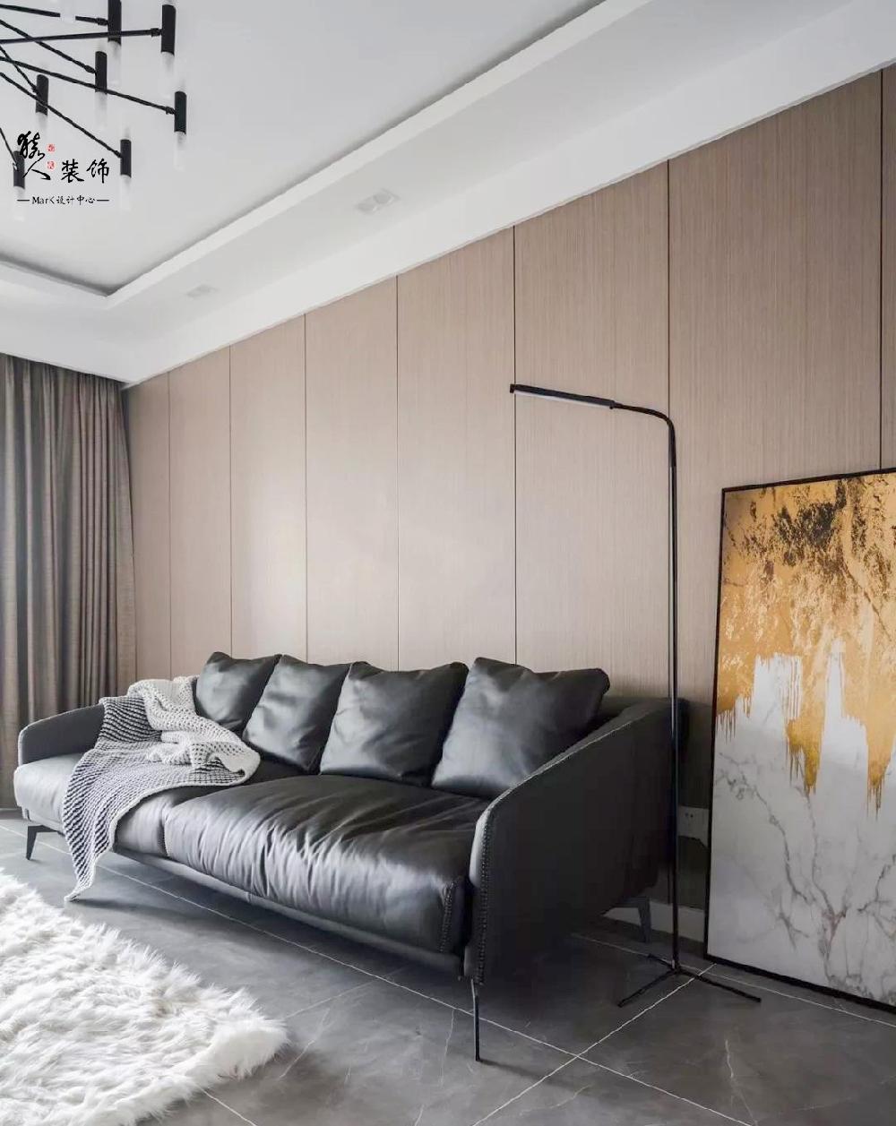 120平现代简约三室,电视背景也太能装了15136163