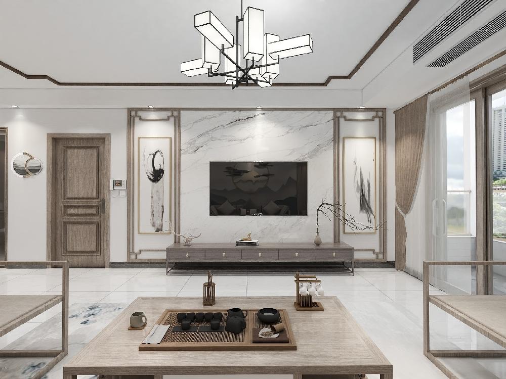 190㎡三室兩廳現代中式風住宅15162781