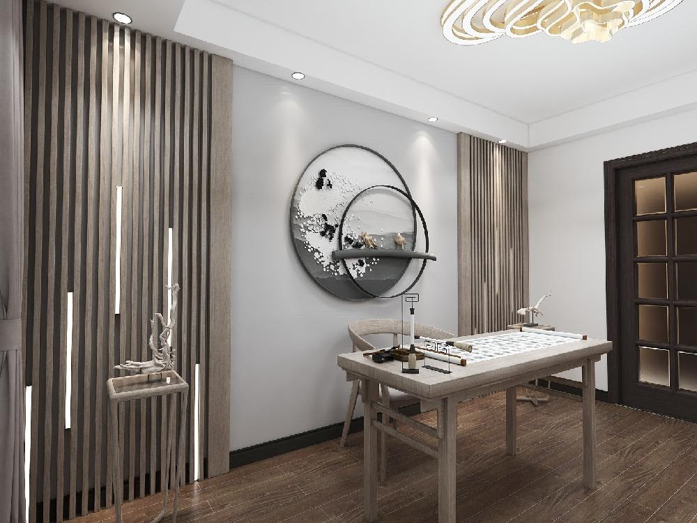190㎡三室兩廳現代中式風住宅15162790