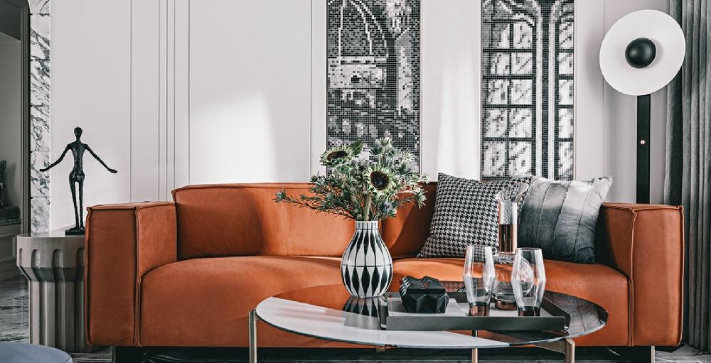 高级灰+橙,强烈的色彩反差15193659
