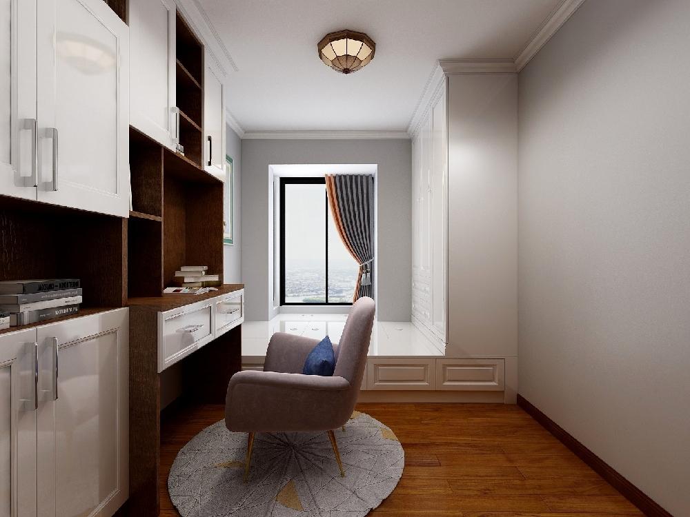 118㎡三室两厅双卫改单卫的小美式设计15198205