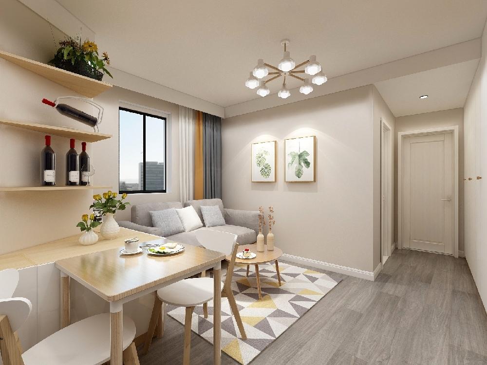 52m2二居室公寓溫馨設計15227116