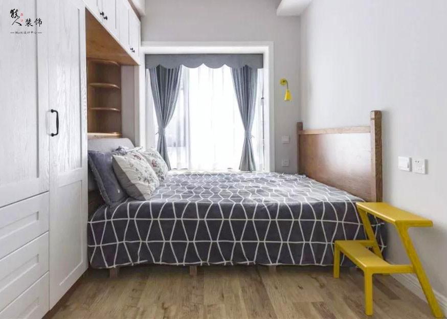 55㎡現代簡約,小空間裝成二房也自然!15465399