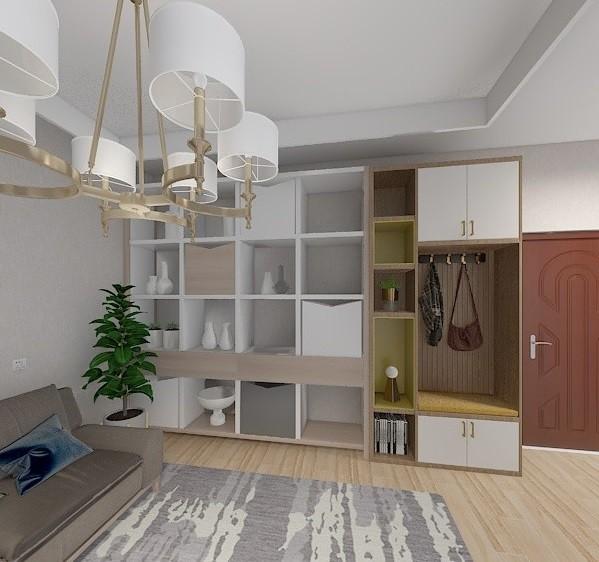 50m²小户型改造成简洁明亮两居室16037724