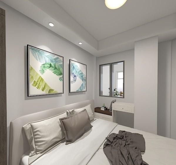 50m²小户型改造成简洁明亮两居室16037715