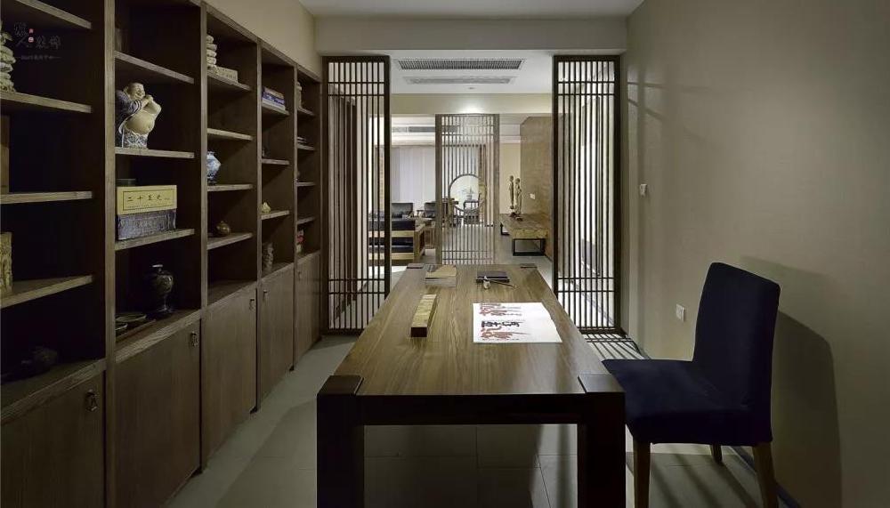 160㎡現代中式,簡約穩重,低調奢華16060240