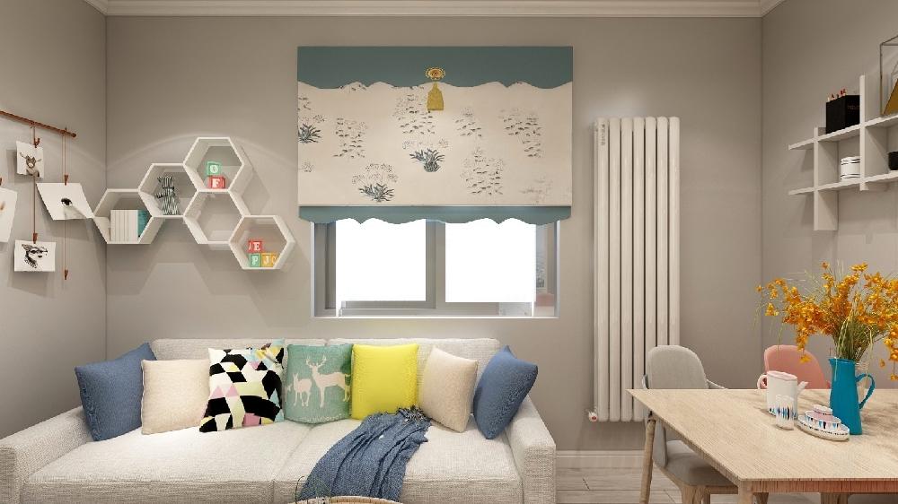 兩居室北歐極簡風格60平16328836