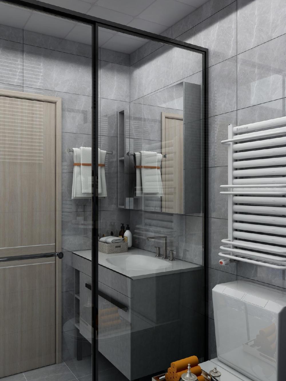 兩居室60平現代簡約風格16326559
