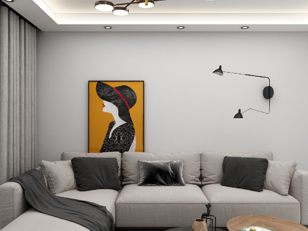 兩居室60平現代簡約風格16326551