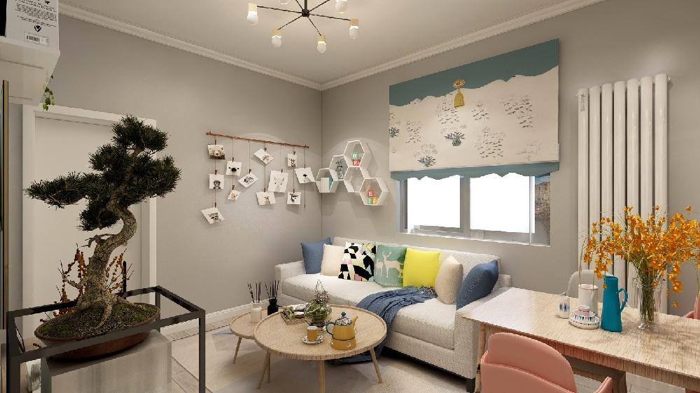 两居室北欧极简风格60平16328838