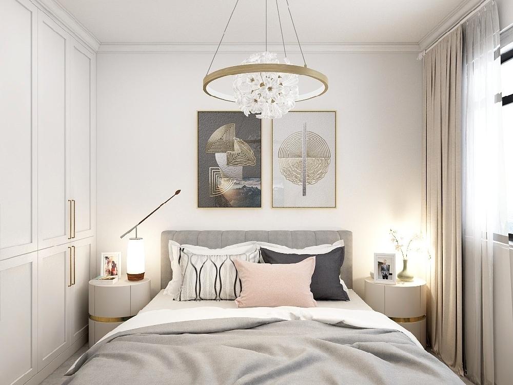 60平兩居室現代簡約裝修16396397